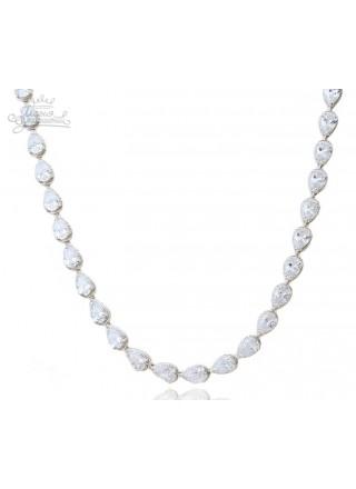 Ожерелье Торжество с прозрачными камнями