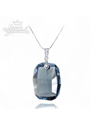 Подвеска с синим кристаллом Swarovski Denim