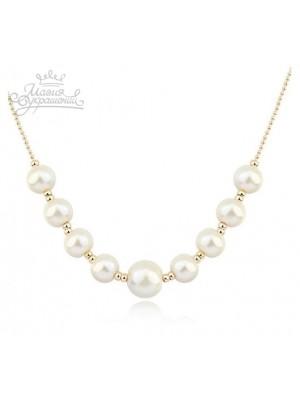 Ожерелье Нить жемчужная с искусственным жемчугом