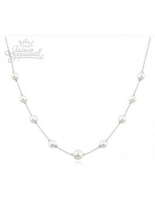 Ожерелье Нить c жемчугом с искусственным