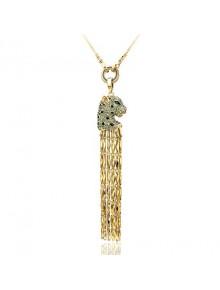 Подвеска ожерелье длинное Гепард с крист
