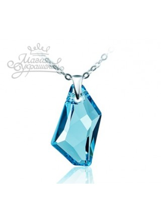 Подвеска Голубой кристалл Swarovski