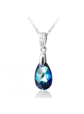 Подвеска Полярное сияние синий кристалл Swarovski medium Bermuda Blue