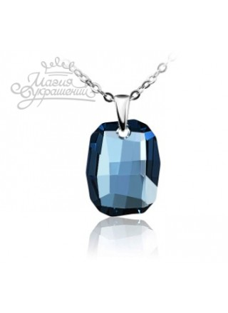 Подвеска с темно-синим кристаллом Swarovski Denim