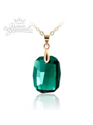 Подвеска с зеленым кристаллом Swarovski Emerald