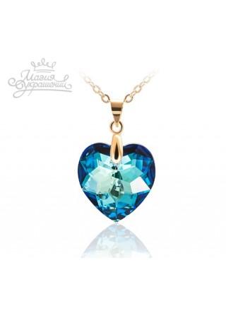 Подвеска Синие сердце Bermuda Blue 18 мм