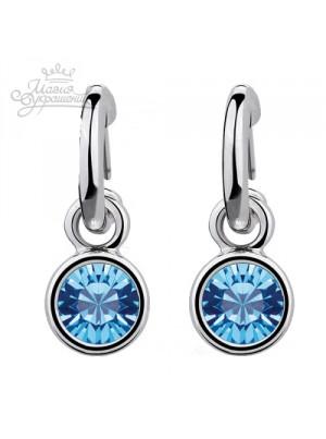 Серьги Голубые кристаллы