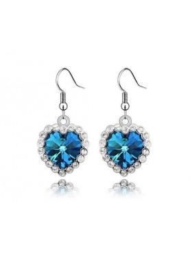Серьги Сердцеедки с кристаллами с синими Swarovski