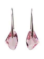 Серьги Розовые кристаллы Swarovski (Сваровски)