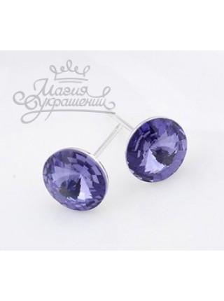 Серьги Фиолетовые глазки