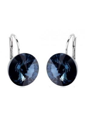 Серьги Монтана синий кристалл Swarovski