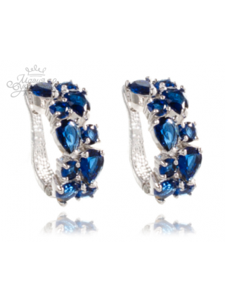 """Серьги """"Сеньора"""" с синими кристаллами"""