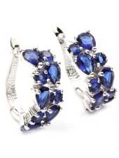 Серьги Сеньора с синими кристаллами