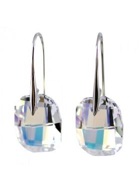 Серьги с крупными кристаллами Swarovski AB