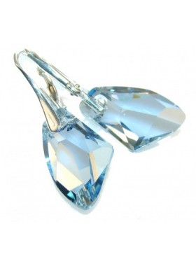 Серьги Небесные кристаллы с голубыми Swarovski