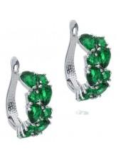Серьги Магические зеленые фианиты