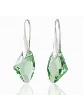 Серьги Зеленые кристаллы Swarovski (Сваровски)