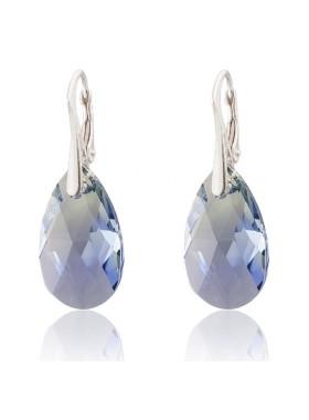 Серьги Миндалевидные с кристаллами Swarovski PRO-LAV-CHRYS-BLEND