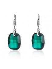 Серьги Колдовские чары с зелеными кристаллами Swarovski Emerald