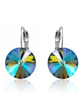 Серьги популярные с многоцветным кристаллом Swarovski Paradise Shine