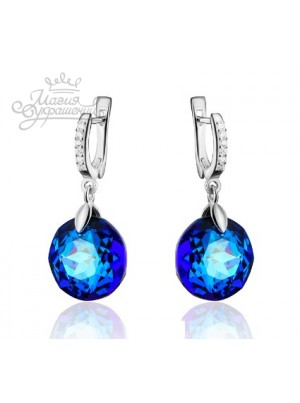 Серьги с кристаллом Swarovski Bermuda Blue