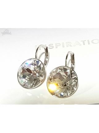 Серьги Бриллиант с прозрачным кристаллом Swarovski