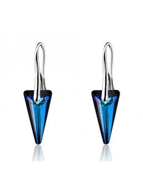 Серьги Стрелы со Swarovski Bermuda Blue