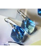 Серьги Кристалл Cosmik с голубыми Swarovski