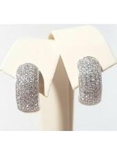 Серьги с инкрустацией кристаллами