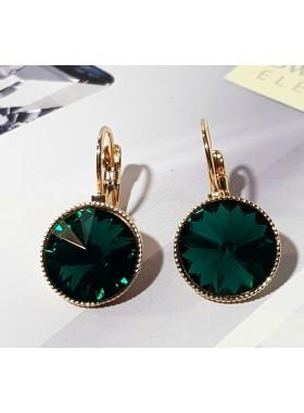 Серьги с зеленым Swarovski Emerald