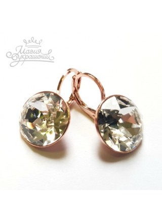 Серьги с прозрачным Бриллиант кристаллом Swarovski