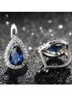 Серьги Очарование синих камней