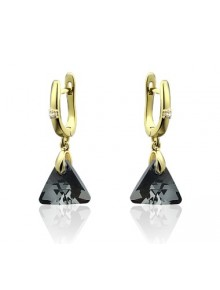 Серьги Треугольники со Swarovski Silver