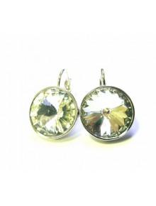 Серьги с круглым кристаллом Swarovski Cr
