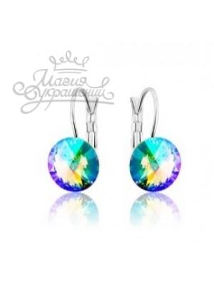 Серьги популярные с кристаллом Swarovski Paradise Shine