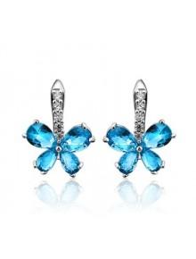 Серьги Голубые цветочки