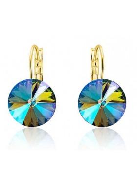 Серьги популярные с кристаллами Swarovski Paradise Shine