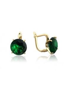 Серьги с зелеными камнями
