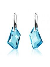 Серьги Голубой кристалл Swarovski