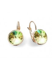 Серьги модные со Swarovski Luminous Green