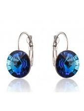 Серьги популярные с кристаллом Swarovski Bermuda Blue