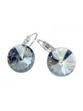 Серьги популярные с кристаллом Swarovski Blue Shade