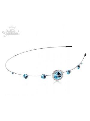 Ободок для волос с голубыми Swarovski